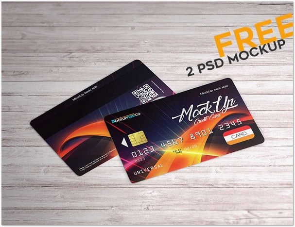 Credit Card – 2 Free PSD Mockups