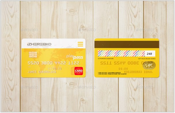 Credit Card Discount Mock-Up