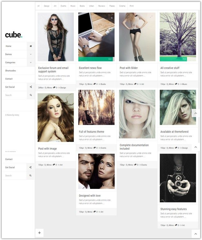 Cube, Multipurpose Simple Reviews WordPress Magazine