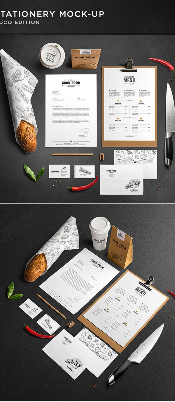 Culinary Branding Mockup