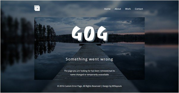 Custom Error Page A Flat Responsive Widget Template