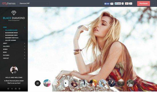 DIAMOND – Photography WordPress Theme