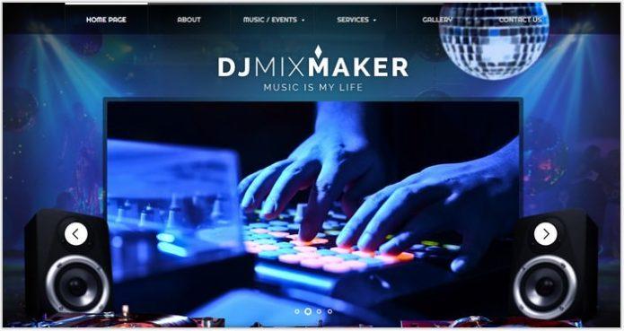 DJ Music Website Template