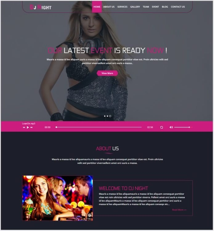 DJ Night - Party HTML Template