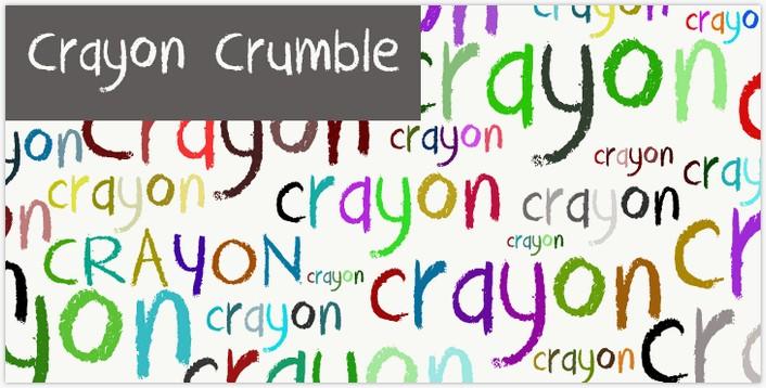 DK Crayon Crumble fontby David Kerkhoff