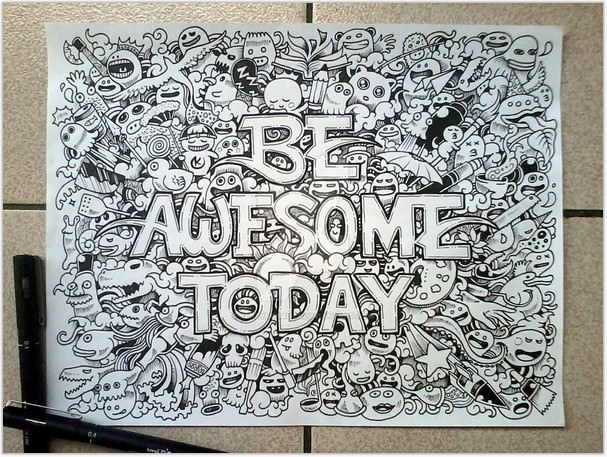 DOODLE ART BE AWESOME TODAY