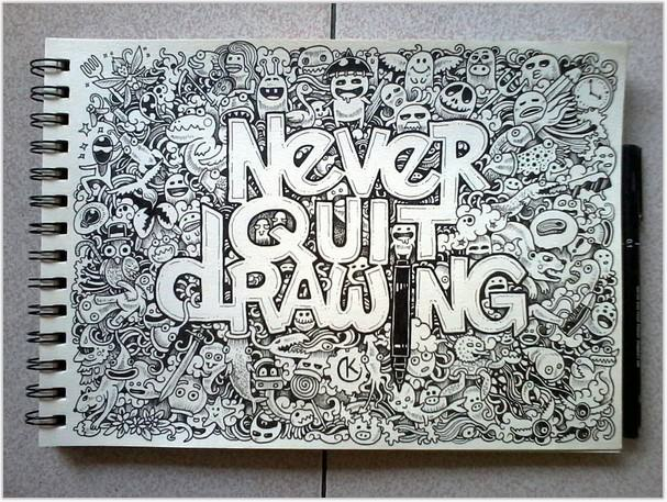 DOODLE ART Never Quit Drawing