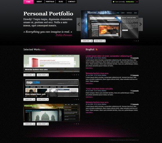 DarkPortfolio - Free Template