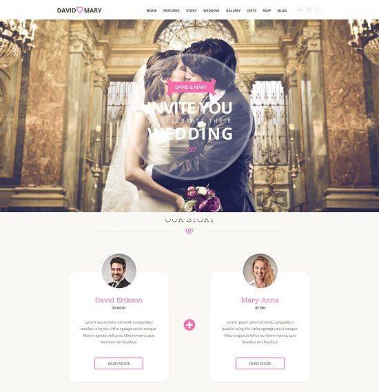 David & mary- Wedding & Multi-purpose Theme