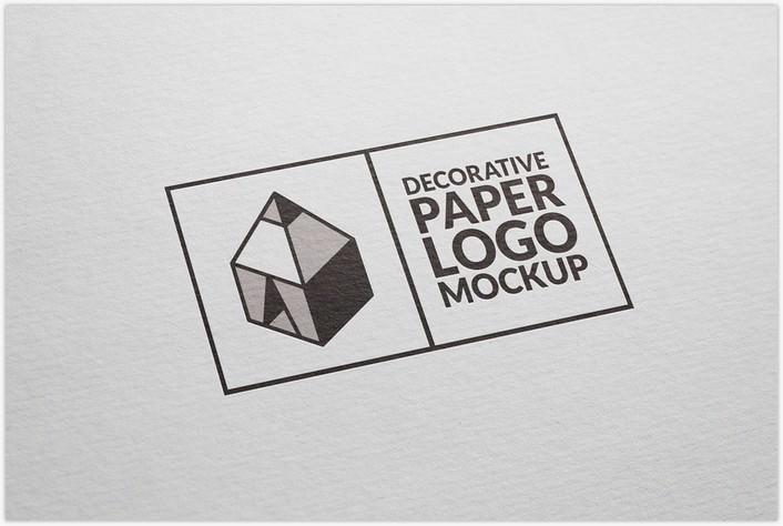 Decorative Paper Logo Mockup