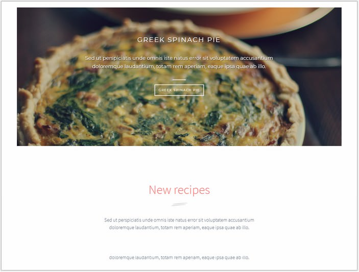 Delice Dishes Light WP Cook PHP Theme