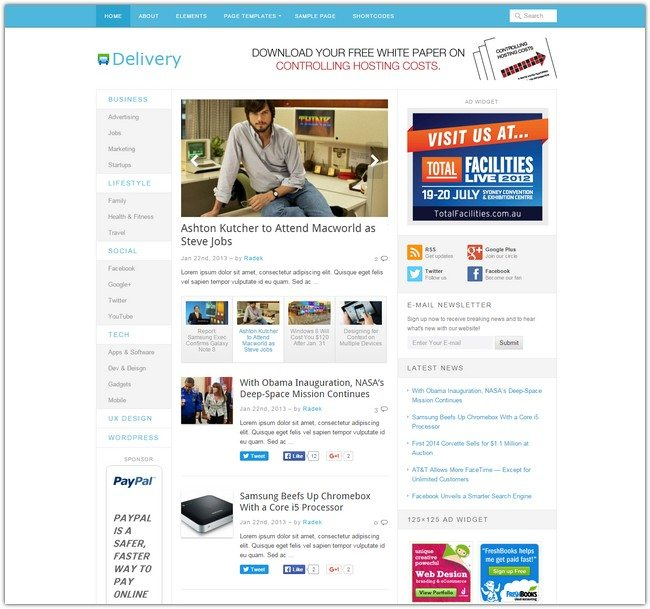 Delivery WordPress Theme