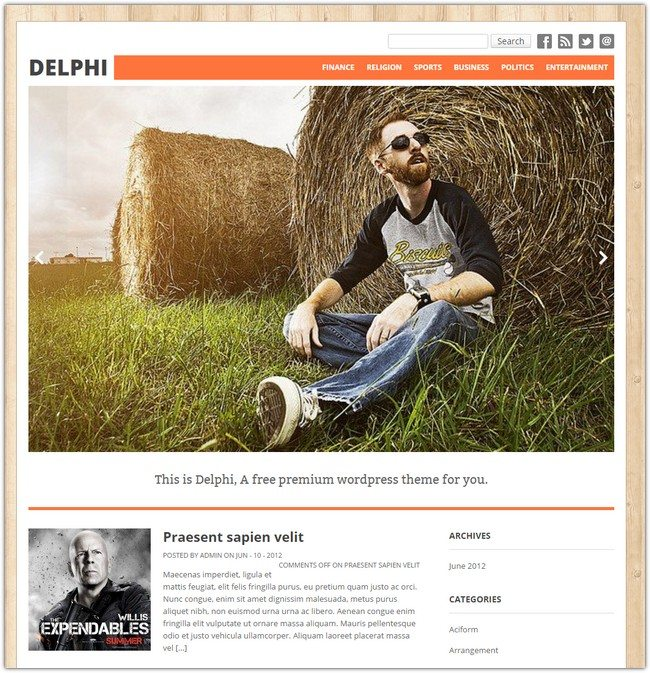 Delphi WordPress Theme