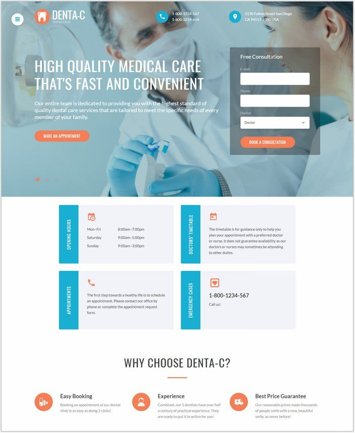 Dental Center Website Template