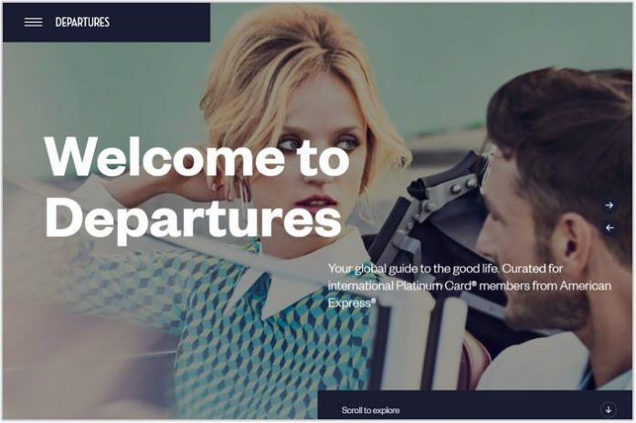 Departures- Single Page Examples