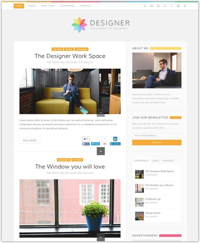 Designer - Blog WordPress Theme