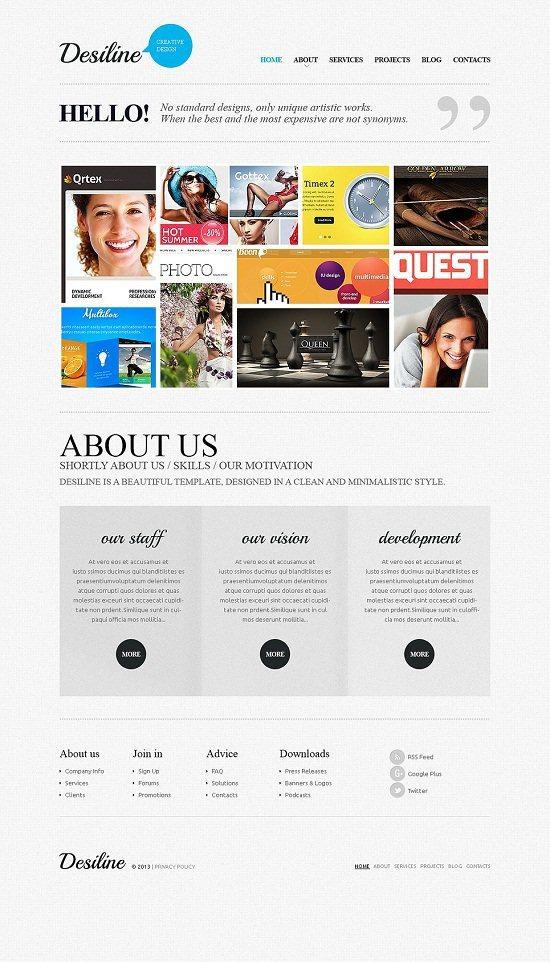 Desiline Design Studio Responsive Website Template