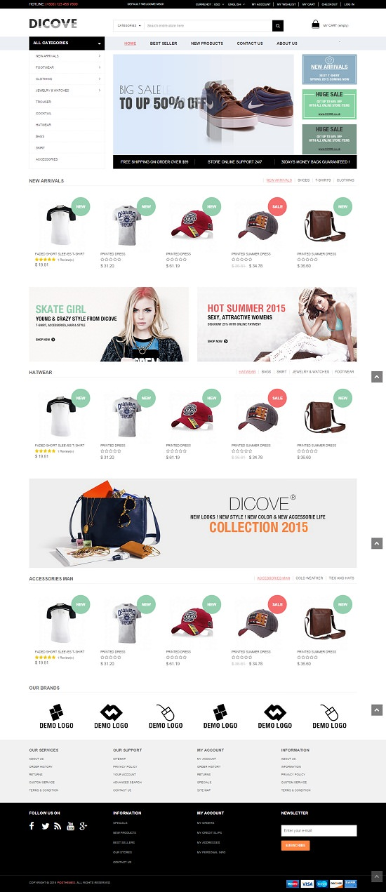 Dicove - Fashion Responsive Prestashop Theme