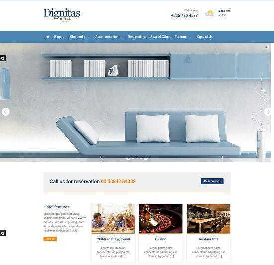 Dignitas - Hotel & Apartment Responsive Theme