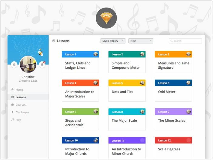 DiscoMusica - Free Web UI Kit