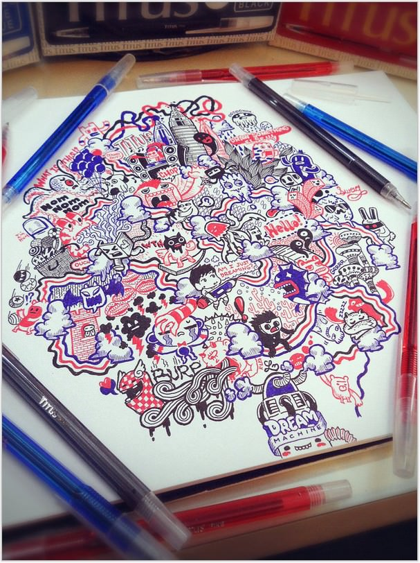 Doodle BRB Dreaming