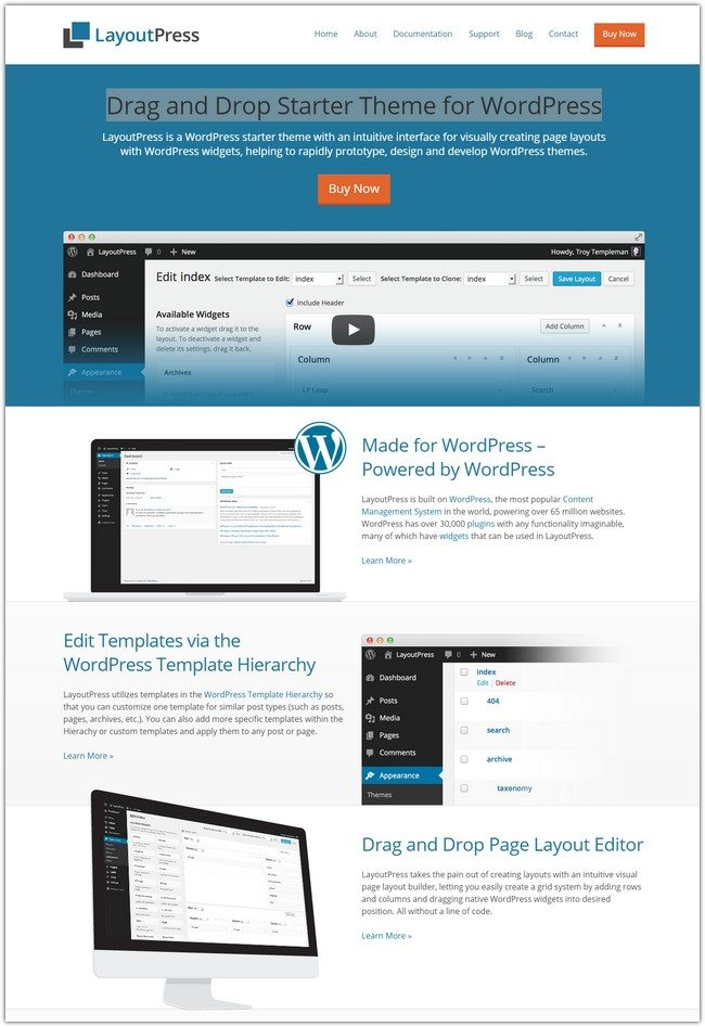 Drag and Drop Starter Theme for WordPress