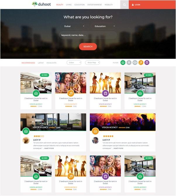 Duhoot Responsive web template