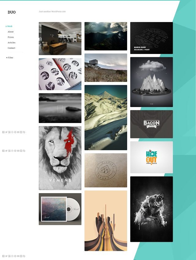 Duo – Unique Minimal Responsive WordPress Theme