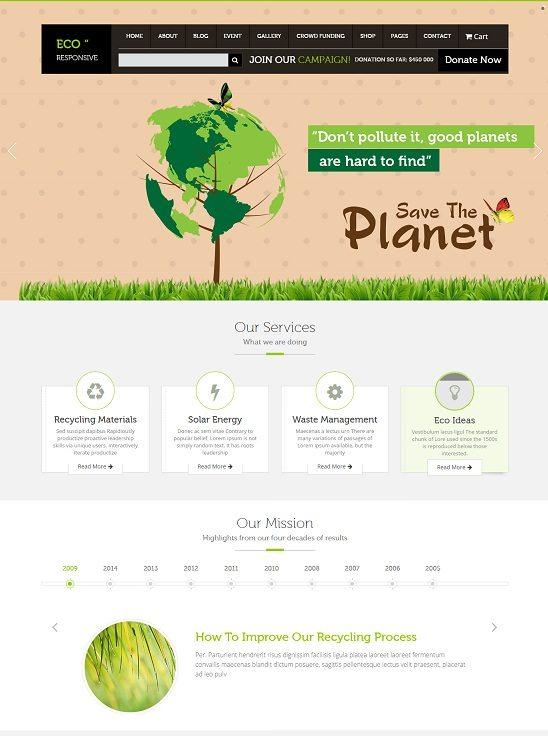 ECO Responsive Environment WordPress Theme