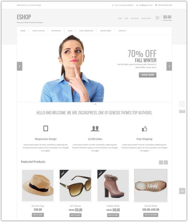 Clean and Simple WordPress Theme