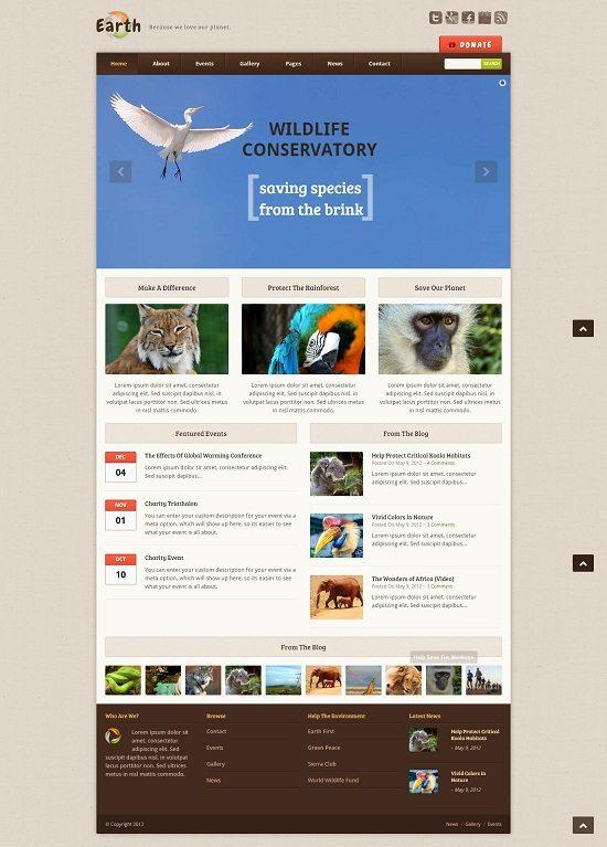 Earth - Eco Environmental NonProfit WordPress Theme