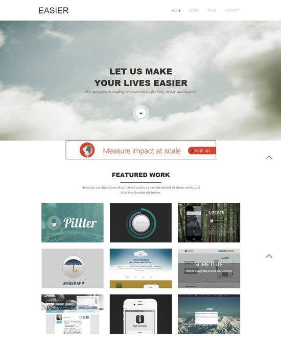 Easier a Corporate Portfolio Flat Bootstrap Responsive web template