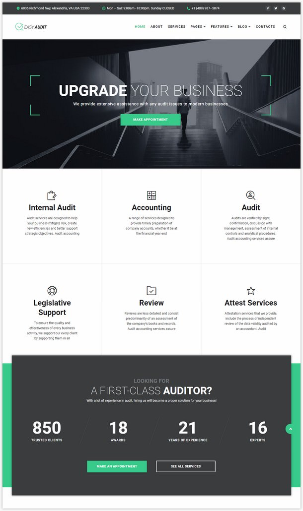 EasyAudit Auditing WordPress Theme