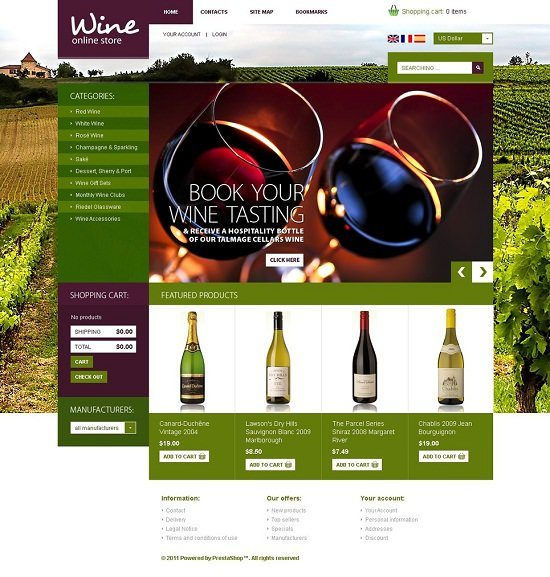 Eco Wine Shop PrestaShop Theme