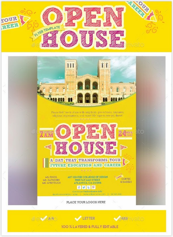 Education & Career Open House Flyer Template