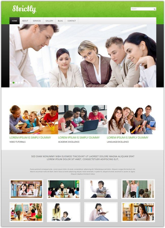 Education Mobile Website Template