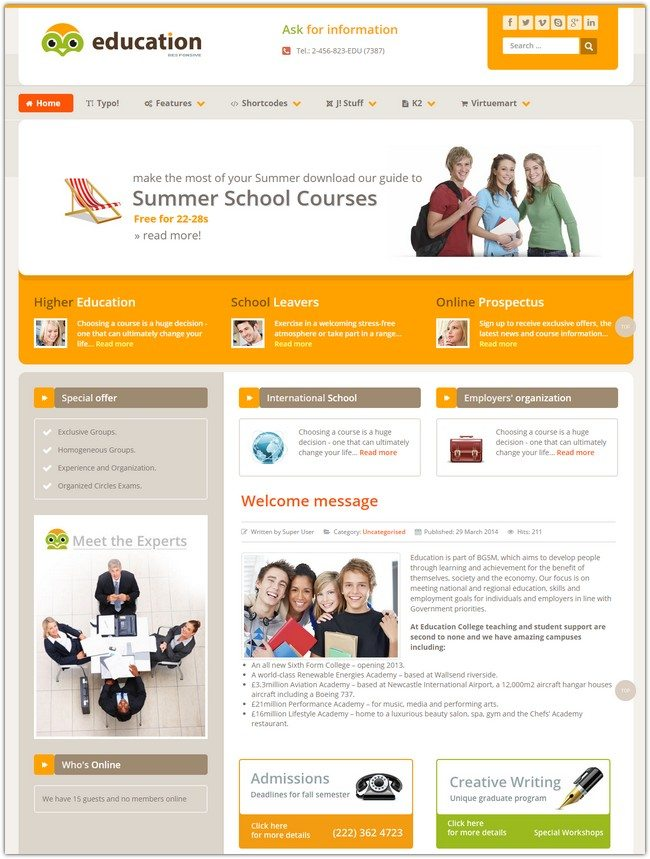 Education Responsive Template