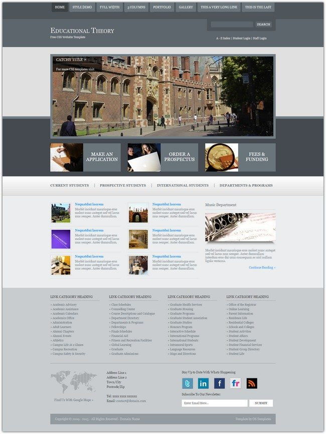 Educational Theory Free Website Template