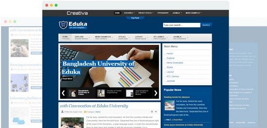 Eduka Best Educational Joomla Template