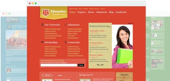 Edumatics Responsive Educational Joomla Template