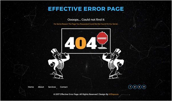 Effective Error Page Flat Responsive Widget Template