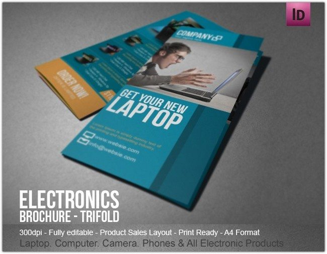 Electronic Sales Brochure Modern Design
