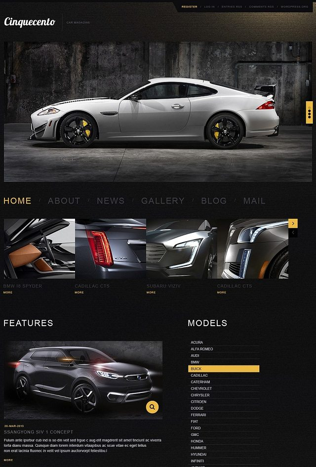 Elegant Car WordPress Themes