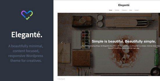 Elegante – Responsive Portfolio WordPress Theme