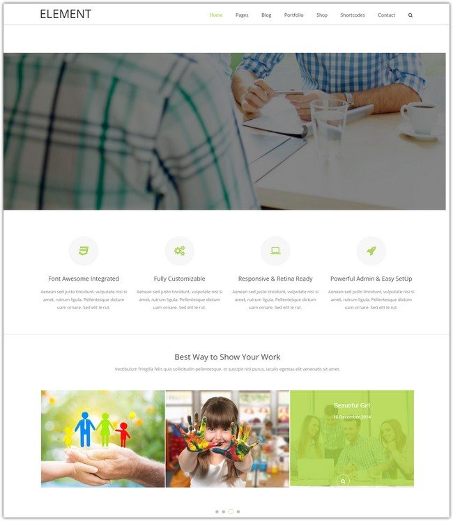 Element - Responsive Multi-Purpose HTML5 Template