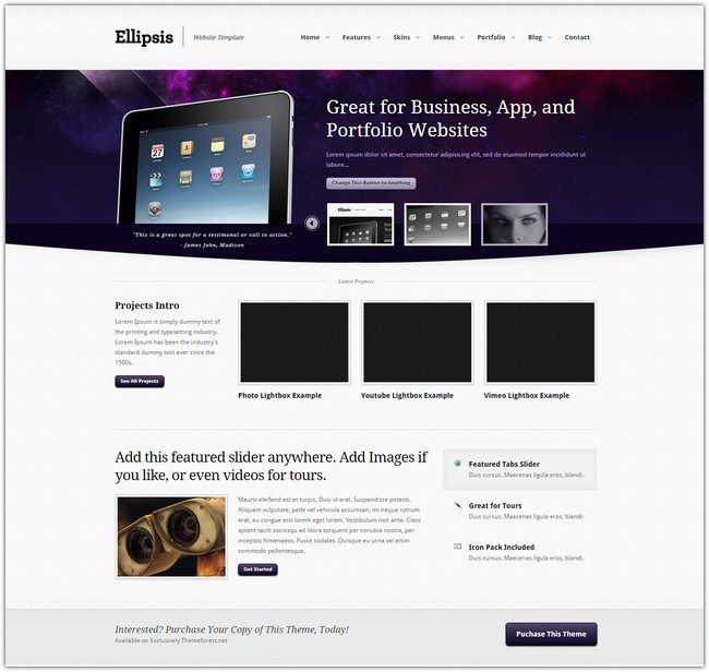 Ellipsis - Flexible HTML CSS Website Template