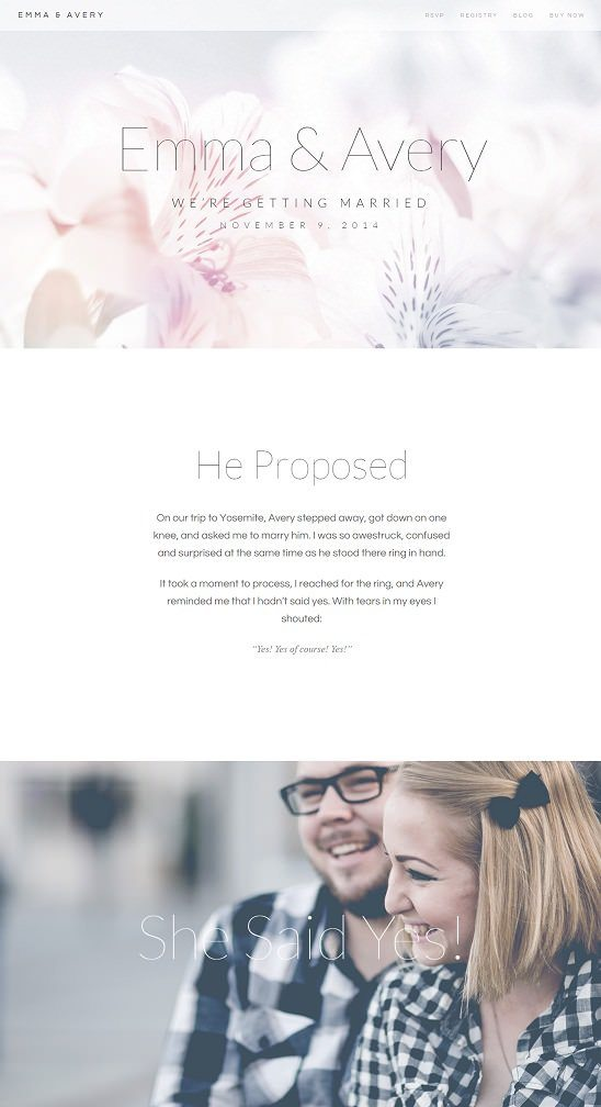 Emma - Responsive Wedding WordPress Theme
