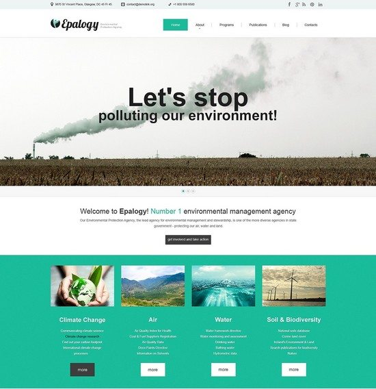 Environmental Responsive WordPress Theme Monster