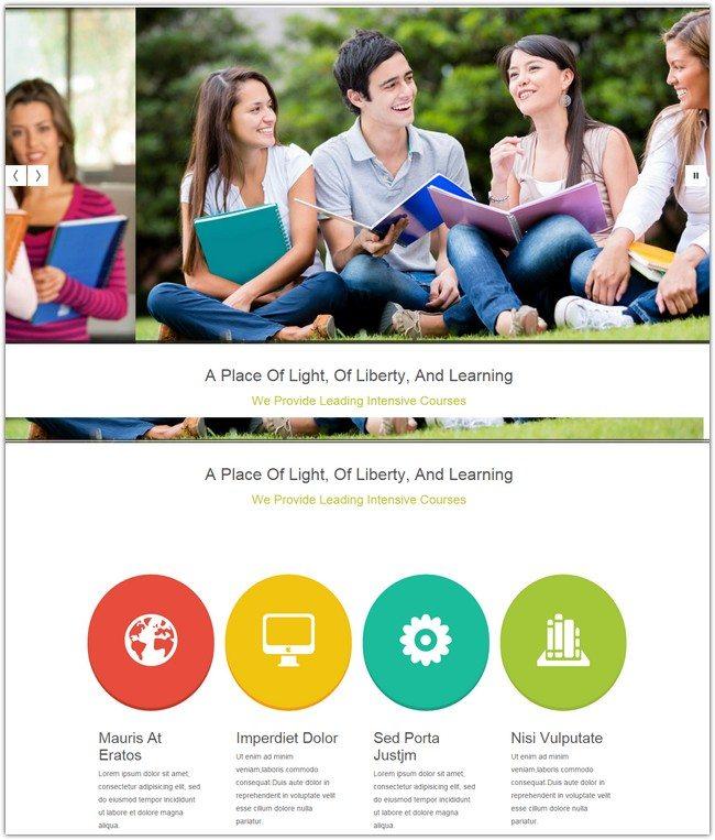 Erudite Education Mobile Website Template