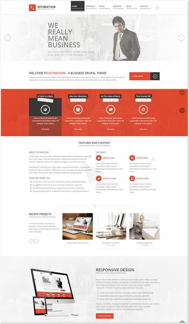 Estimation - Responsive Drupal Theme